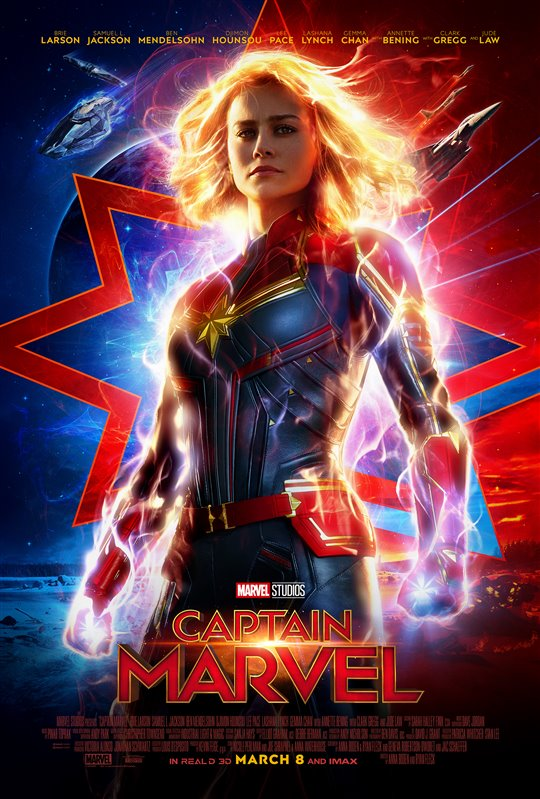 CAPTAIN MARVEL 3D poster missing