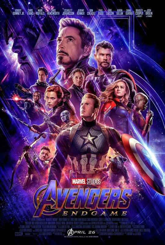 AVENGERS ENDGAME 3D (STARTS THURSDAY--TICKETS ON SALE NOW!) poster missing